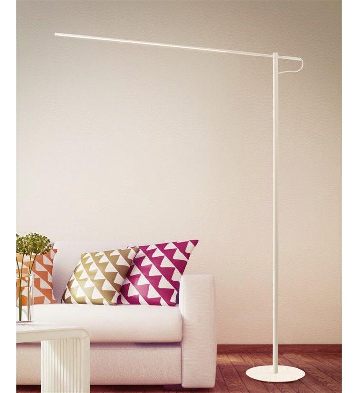 Lampa podłogowa Flaming Max (K) duża biała nowoczesna podłogowa LED do salonu sypialni biura