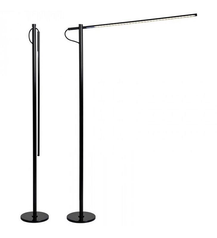 Lampa podłogowa Flaming Max (K) duża czarna nowoczesna podłogowa LED do biura salonu sypialni składana