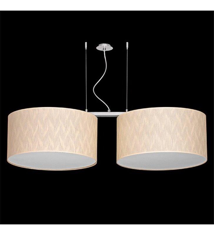 Podwójna duża lampa wisząca Latina (K) dwa abażury materiałowe do salonu sypialni jadalni kuchni nad stół