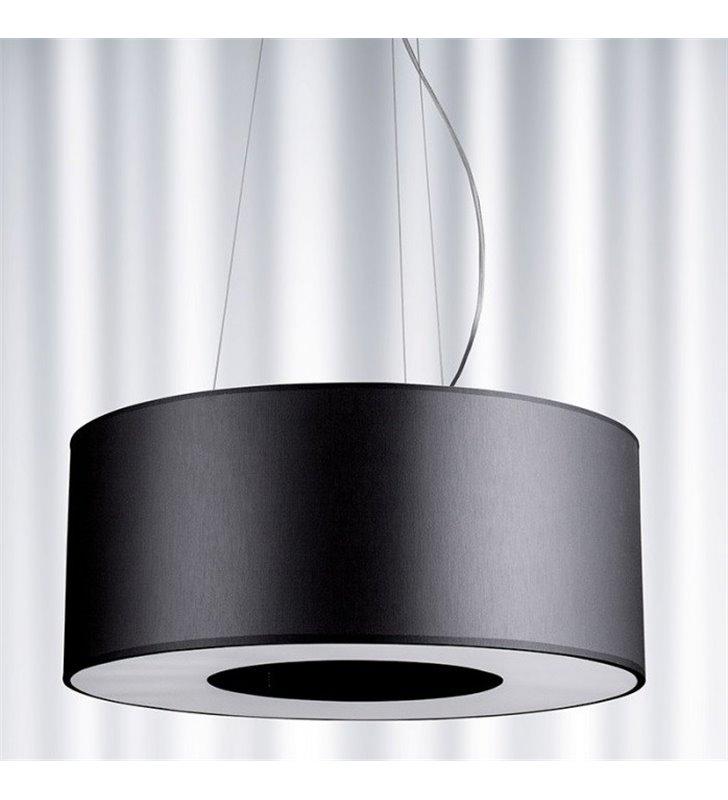 Lampa wisząca Tubus (K) 500 okrągły czarny abażur do sypialni salonu jadalni kuchni