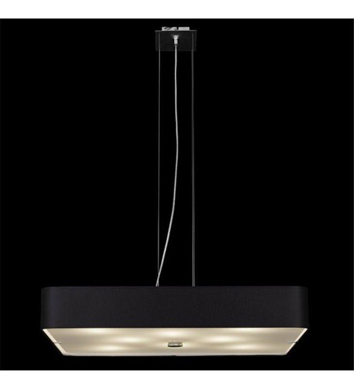 Czarna kwadratowa lampa wisząca Toledo (K) do jadalni nad stół kuchni salonu sypialni