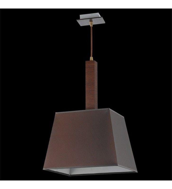 Lampa wisząca Kore brązowa klosz materiałowy trapez do salonu sypialni jadalni kuchni