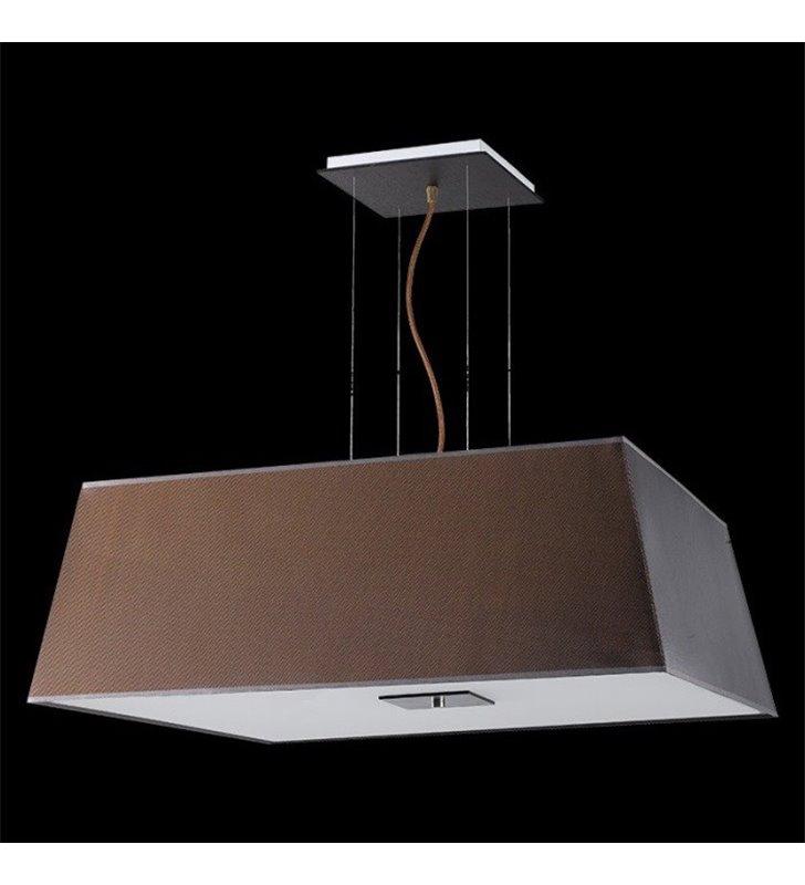 Lampa wisząca Kore (K) duża brązowa klosz materiałowy trapez do salonu sypialni jadalni kuchni nad stół