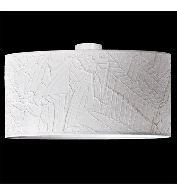 Lampa sufitowa plafon Nodo Kolor 500 (K) biały abażur drapowany