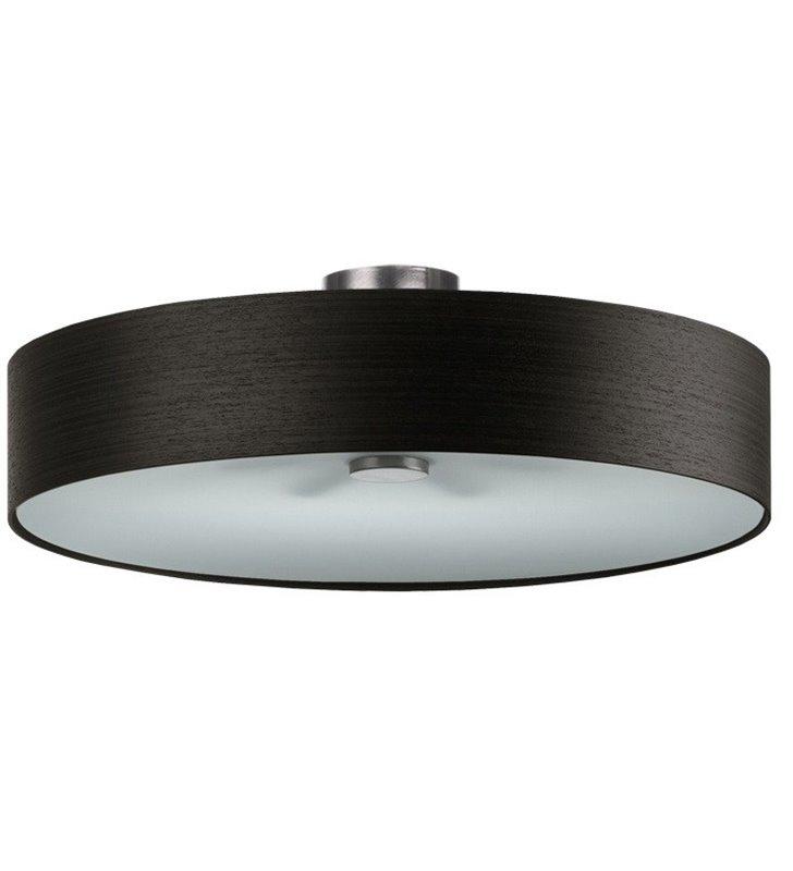 Plafon Kapri 520 okrągły fornirowany heban ciemny do sypialni salonu holu przedpokoju
