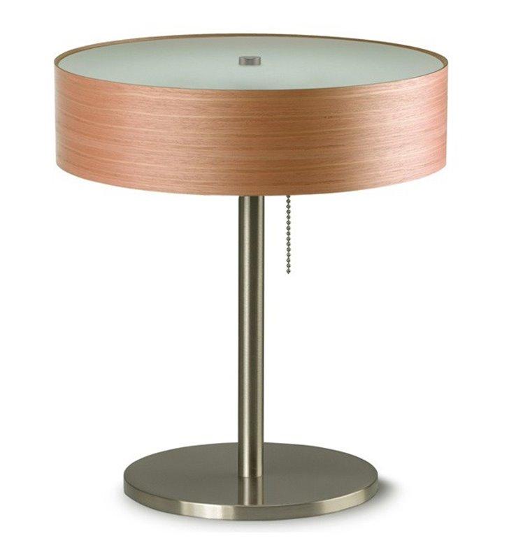 Kapri lampa stołowa lub do gabinetu z włącznikiem przy kloszu fornir czereśnia amerykańska