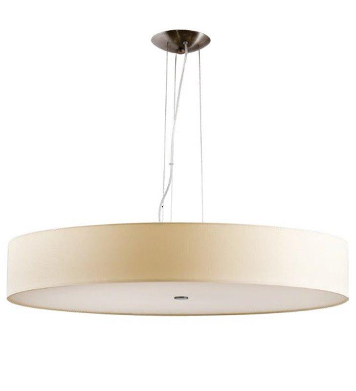 Duża okrągła lampa wisząca Tonga 700 ecru do salonu sypialni jadalni kuchni
