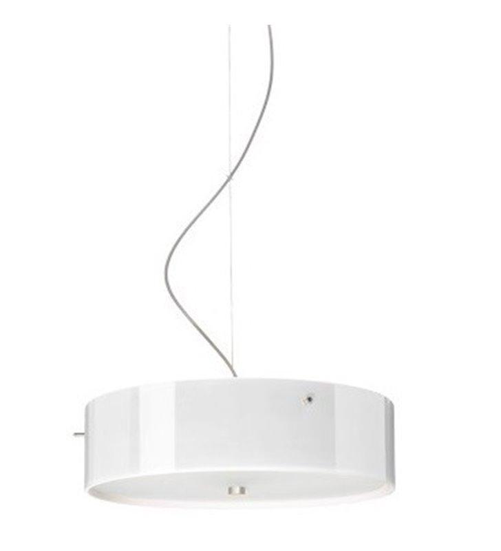 Lampa wisząca Lima Mini okrągła szklana w kolorze opal błysk do salonu sypialni jadalni kuchni