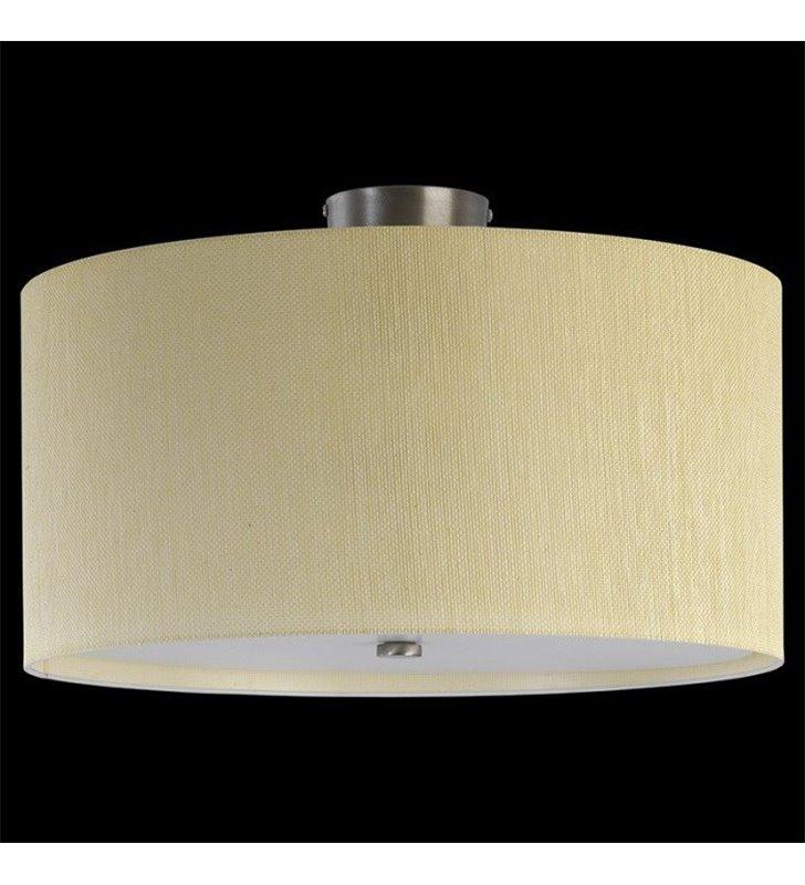 Lampa sufitowa plafon Rondo Rafia 500 (K) abażur materiałowy ecru