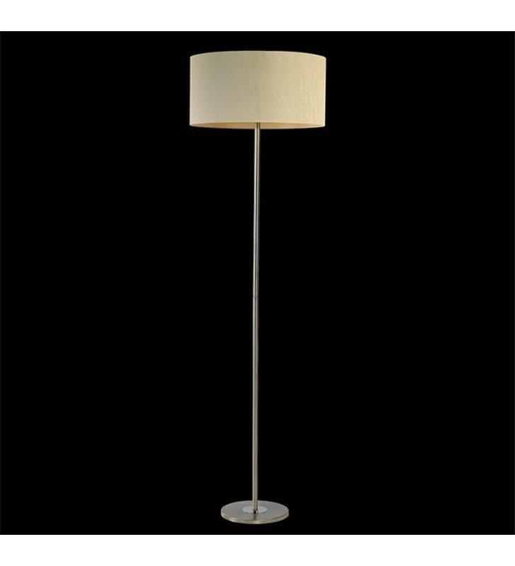 Lampa podłogowa Rondo Rafia (K) abażur materiałowy ecru do salonu sypialni