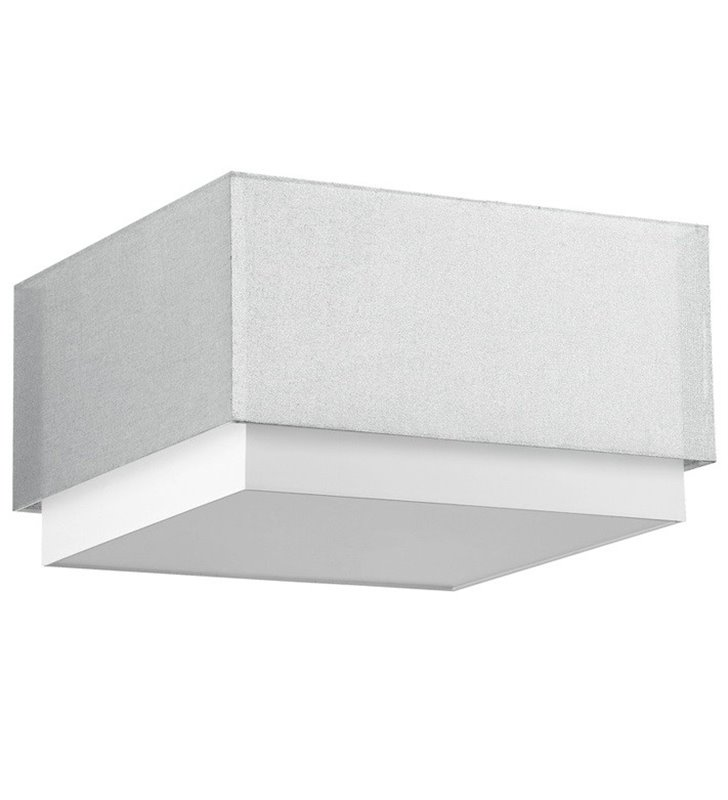 Kwadratowy plafon Lastra 520 srebrno biały kwadratowy