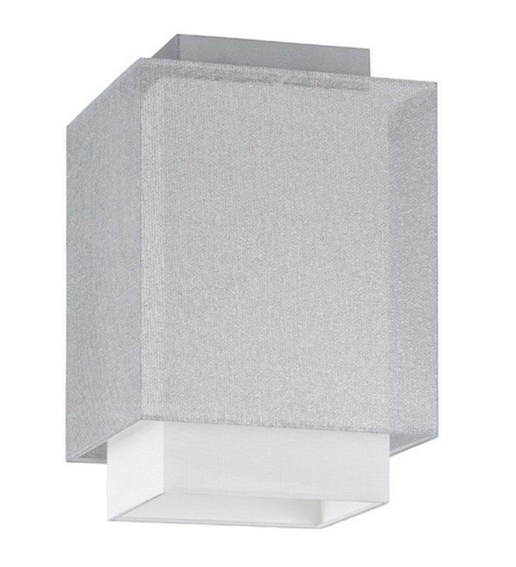 Plafon Lastra 160 mały biało srebrny do salonu sypialni jadalni przedpokoju