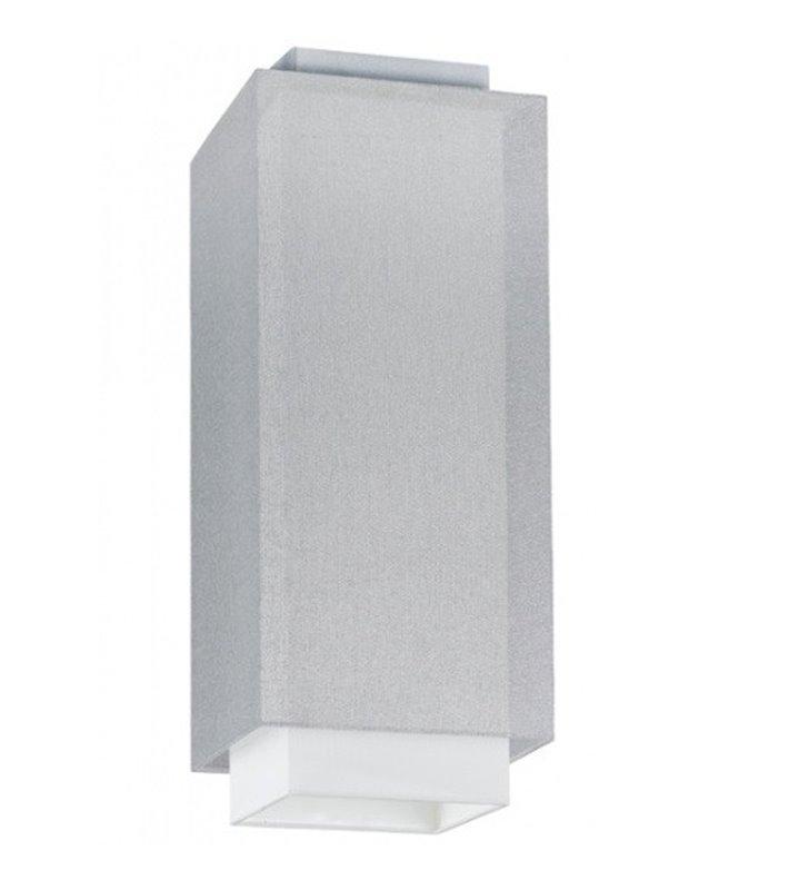 Plafon Lastra 160 biało srebrny do salonu sypialni jadalni przedpokoju