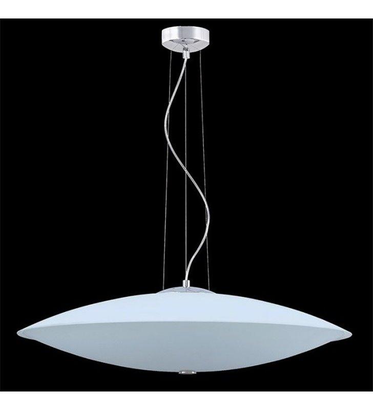 Lampa wisząca Spin Max duża biała okrągła szklana do salonu jadalni kuchni sypialni
