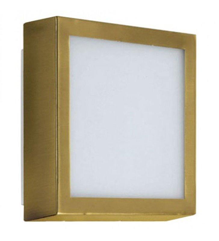 Mały plafon kwadratowy Okno Mini 150 mosiądz