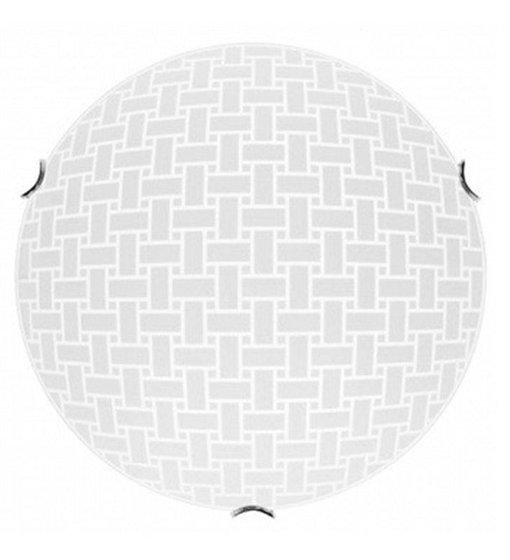 Plafon Idaho 400 biały okrągły klosz ze wzorem- DOSTĘPNY OD RĘKI