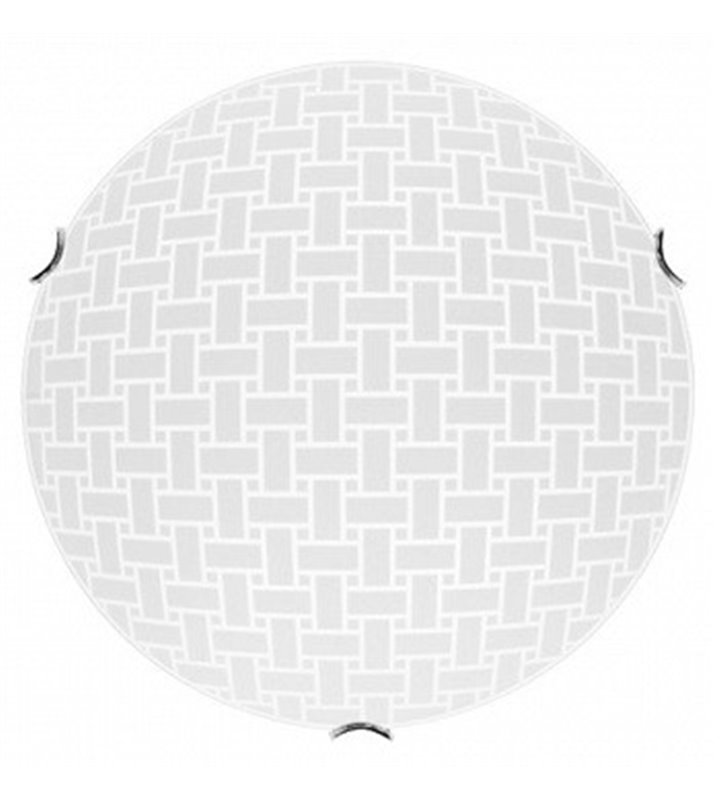 Plafon Idaho 500 okrągły biały klosz ze wzorem