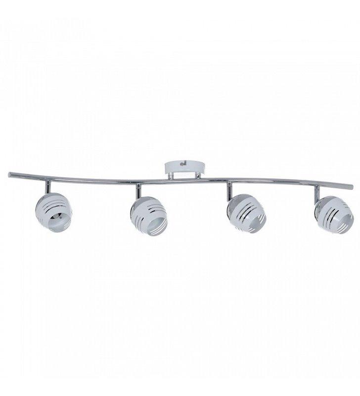 Lampa sufitowa 4 punktowa Hypnos metalowa połączenie chromu z kolorem białym