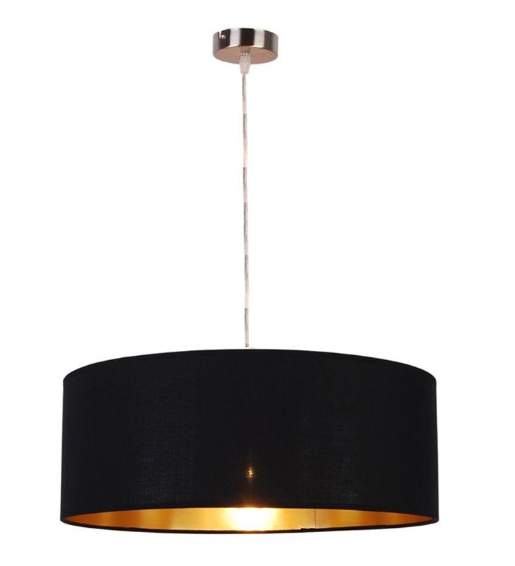 Lampa wisząca Andrea czarny abażur od wewnątrz złoty długość 124 cm do salonu sypialni jadalni kuchni