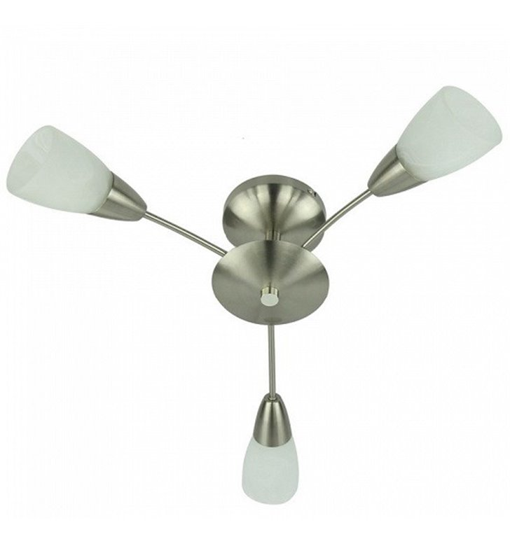 Krótki żyrandol lampa sufitowa Oriana 3 ramienna do salonu przedpokoju sypialni