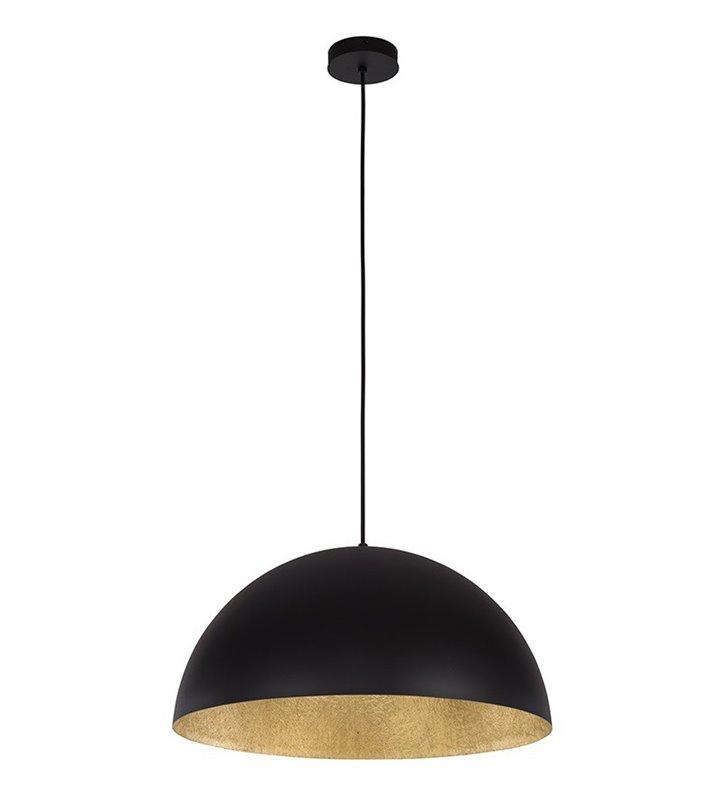 Lampa wisząca Tuba 900 bardzo duża czarna ze złotym środkiem