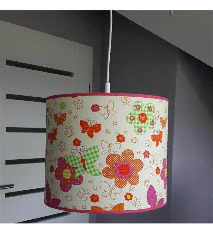 Lampa wisząca Motyle do pokoju dziecka z motylkami i kwiatkami dla dziewczynki - DOSTĘPNA OD RĘKI