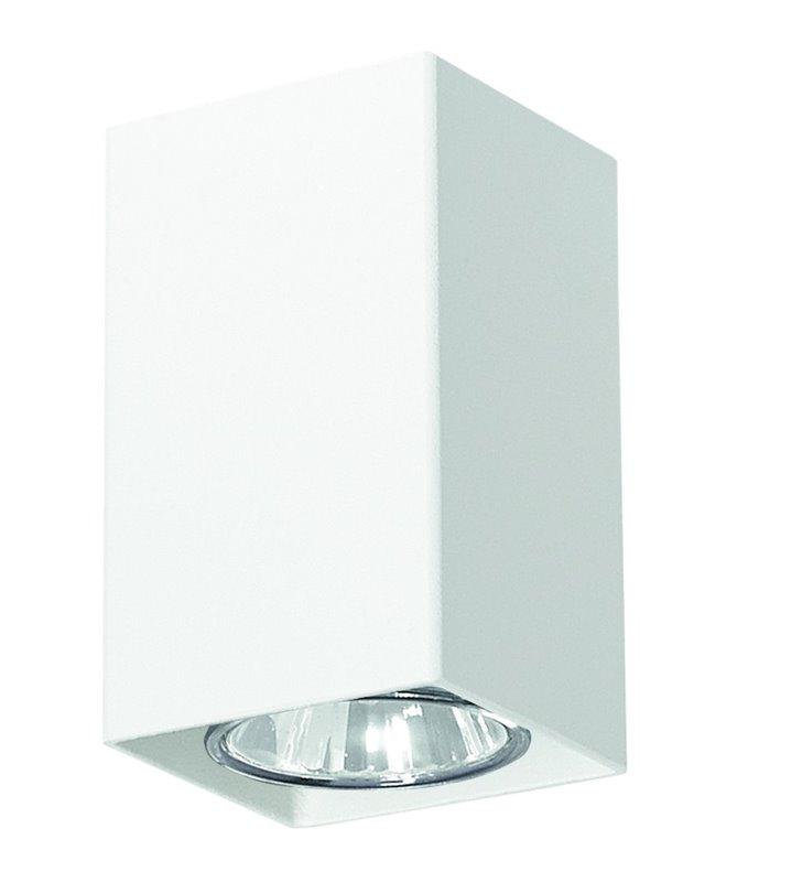 Kwadratowa mała biała lampa sufitowa typu downlight Nero - OD RĘKI