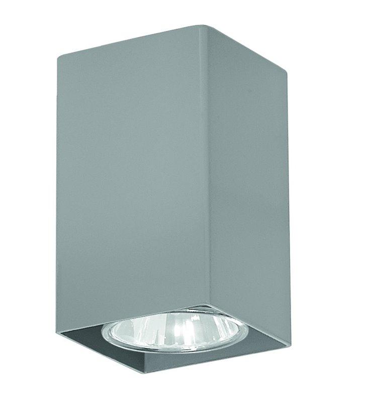 Lampa sufitowa downlight Nero mała kwadratowa popielata - OD RĘKI