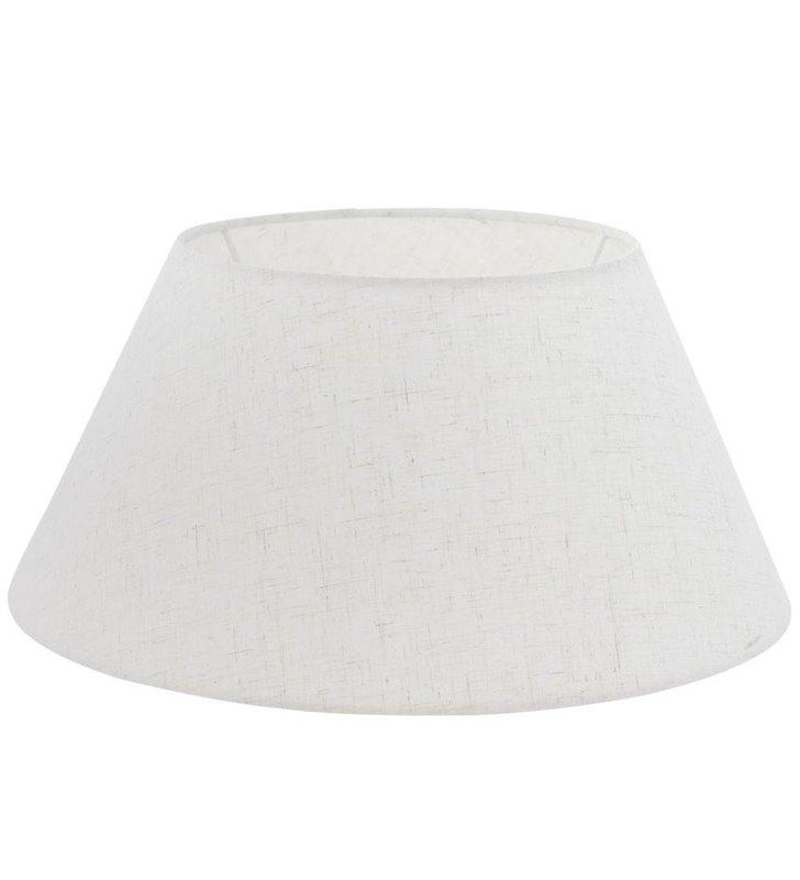 Lampa Vintage(2) - kremowy abażur w kształcie stożka średnica 35 cm - DOSTĘPNY OD RĘKI