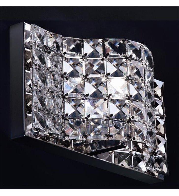 Kinkiet Jasmine pojedynczy nowoczesny kryształowy do salonu sypialni jadalni na korytarz przedpokój