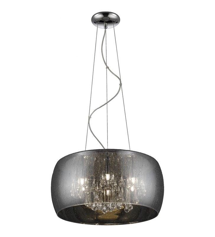 Szklana lampa wisząca z kryształkami Rain klosz z efektem smug deszczu