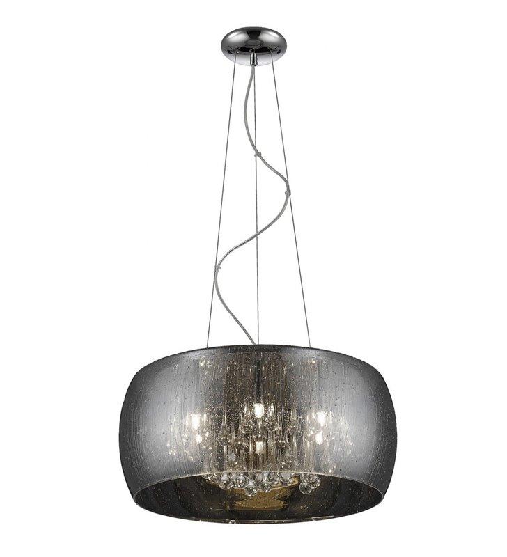 Lampa wisząca z kryształkami Rain szklany klosz do salonu jadalni sypialni