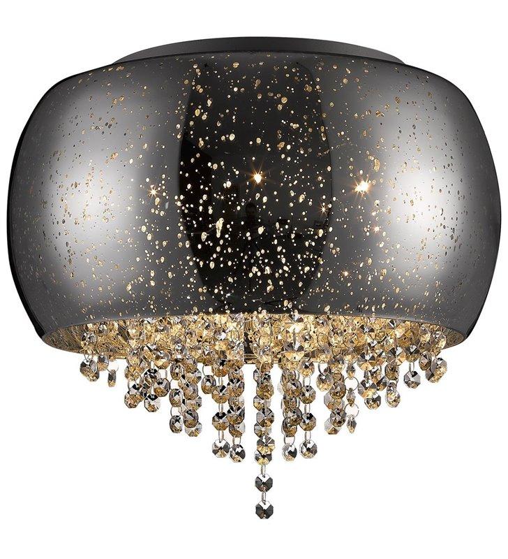 Plafon Vista 400 klosz szklany z efektem kropli deszczu ozdobiony kryształkami do salonu sypialni holu