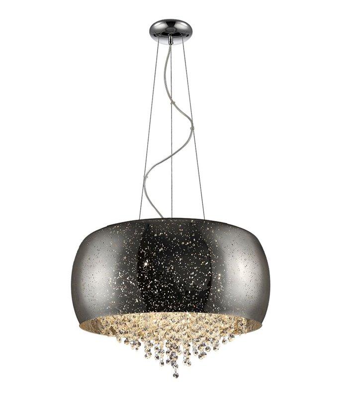 Elegancka srebrna lampa wisząca z dekoracyjnymi kryształami Vista