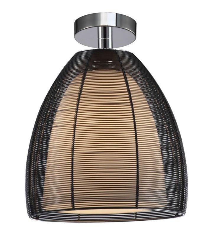 Nowoczesna czarna lampa sufitowa Pico z podwójnym kloszem wewnątrz szklany na zewnątrz metalowy