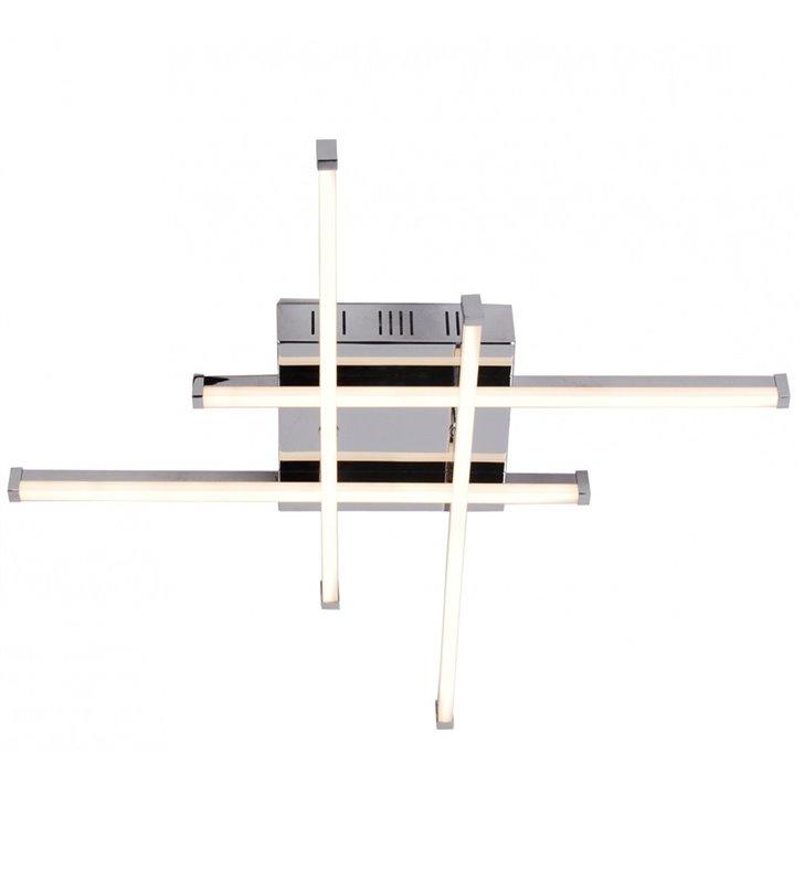 Lampa sufitowa Mauro chromowana nowoczesna LED 4 krzyżujące się wąskie ramiona