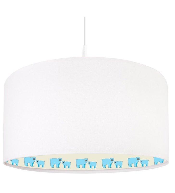 Lampa wisząca z misiami Miś Polarny do pokoju dziecka