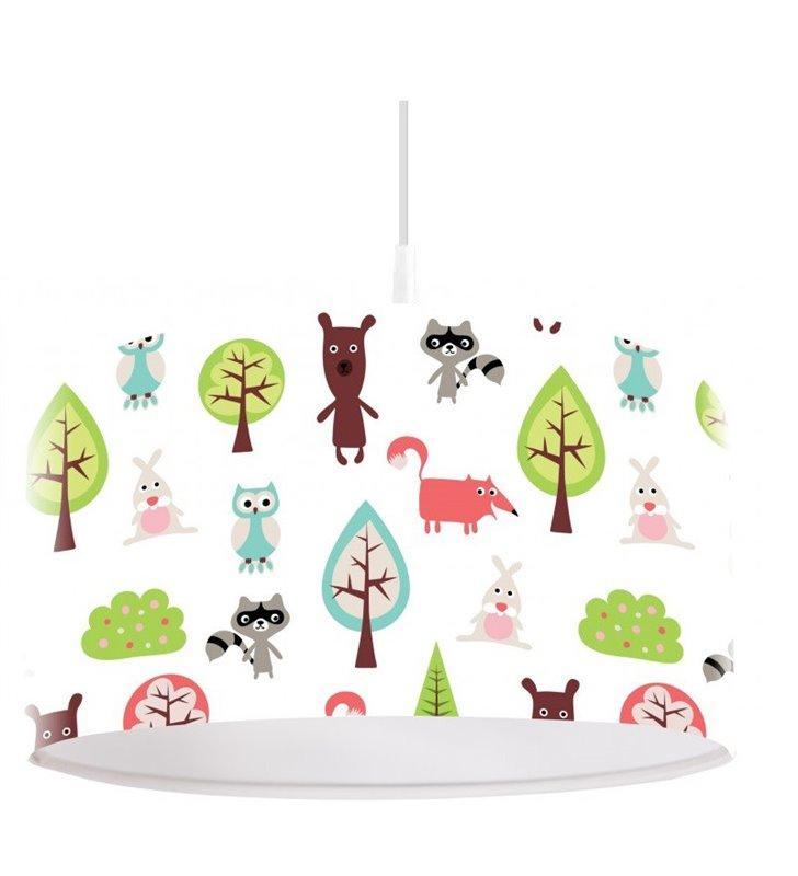Lampa wisząca do pokoju dziecięcego Święto Lasu