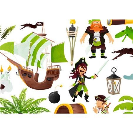 Lampa wisząca do pokoju małego chłopca Atak Piratów