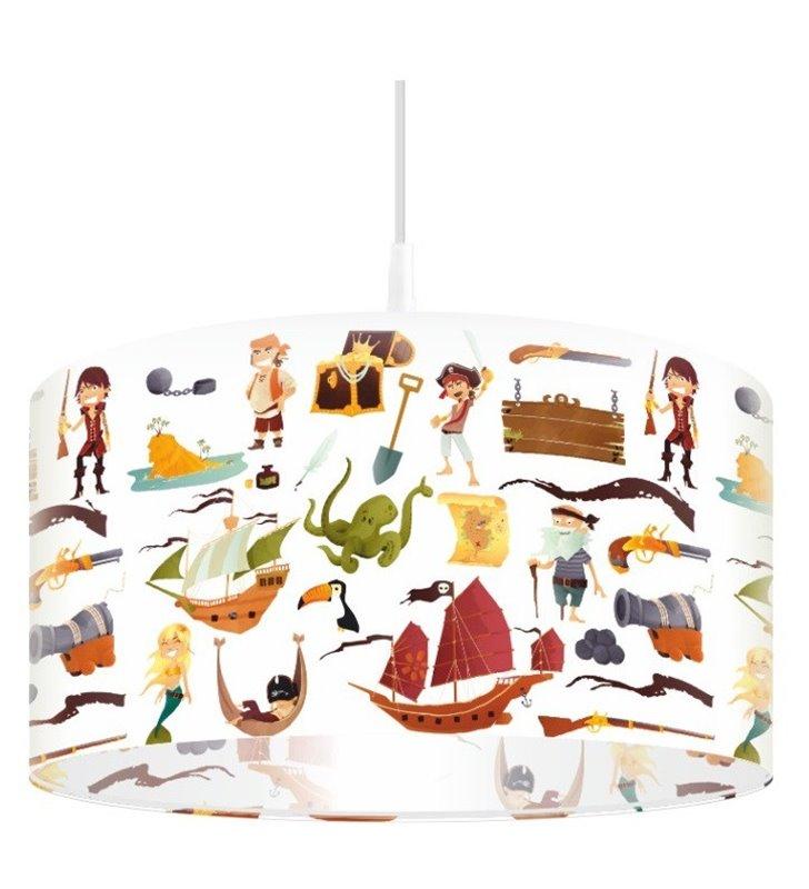 Lampa wisząca Wyspa Piratów do pokoju chłopca