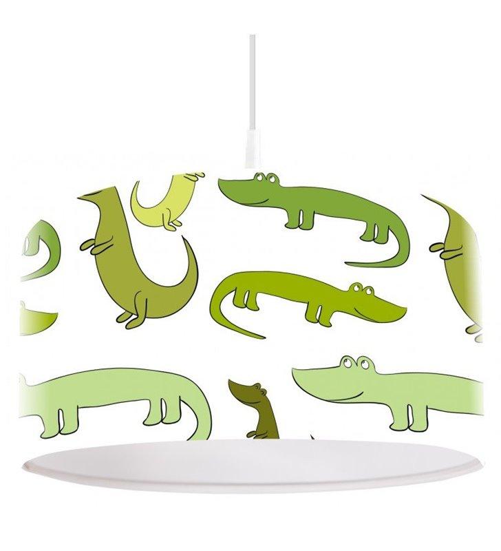 Dziecięca lampa wisząca Zielone Krokodylki