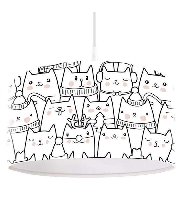 Lampa wisząca z kotkami Kocia Muzyka do pokoju dziecka młodzieżoego