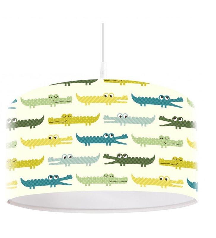 Lampa wisząca do pokoju małego chłopca kolorowe Krokodylki