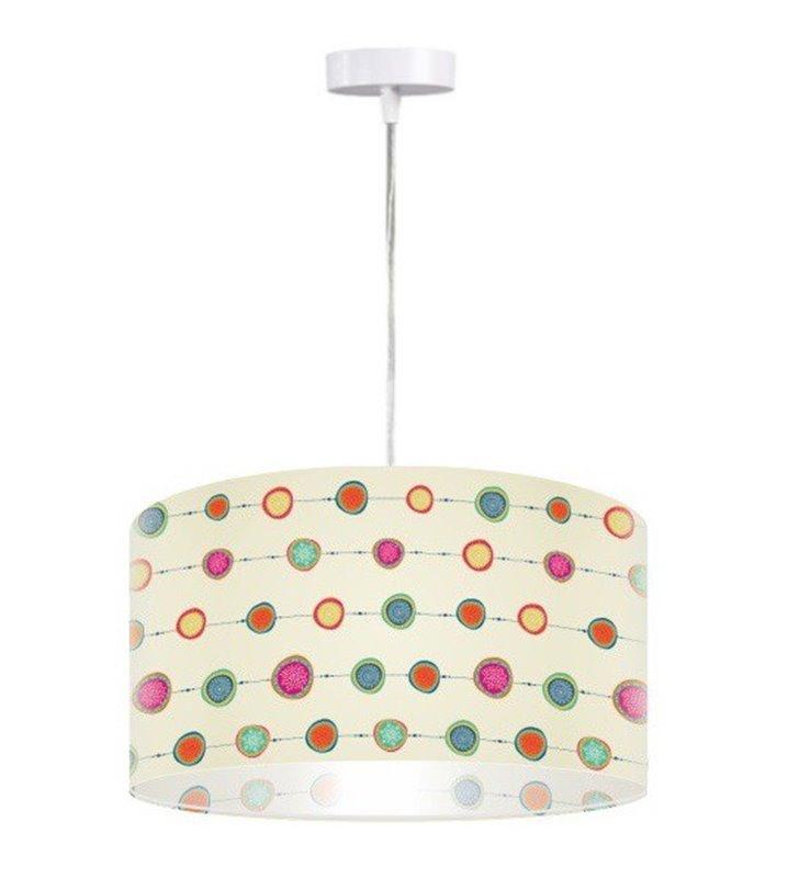 Lampa wisząca Funk okrągła kolorowo do pokoju dziecka nastolatka do kuchni sypialni salonu