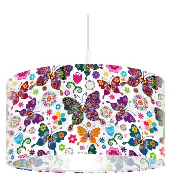 Barwna lampa wisząca Kolorowe Motylki