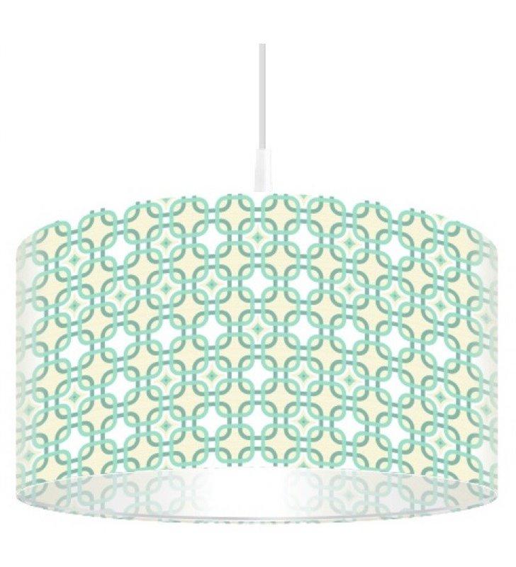 Lampa wisząca Swing abażur z delikatnym nadrukiem