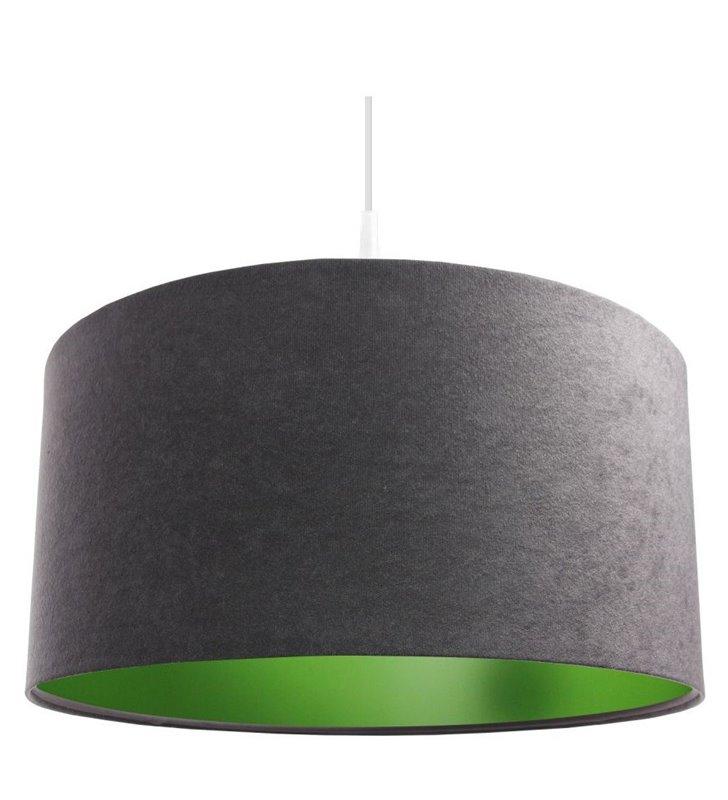 Lampa wisząca Kamelia Zielona szara z zielonym środkiem