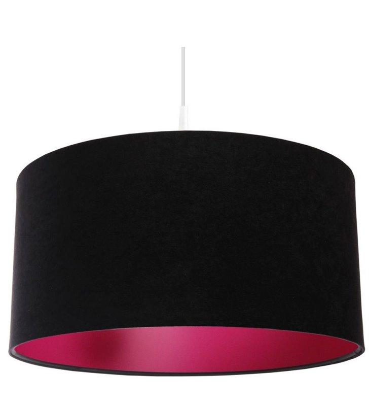 Elegancka czarno różowa lampa wisząca Gloria Różowa do salonu jadalni sypialni nastolatki
