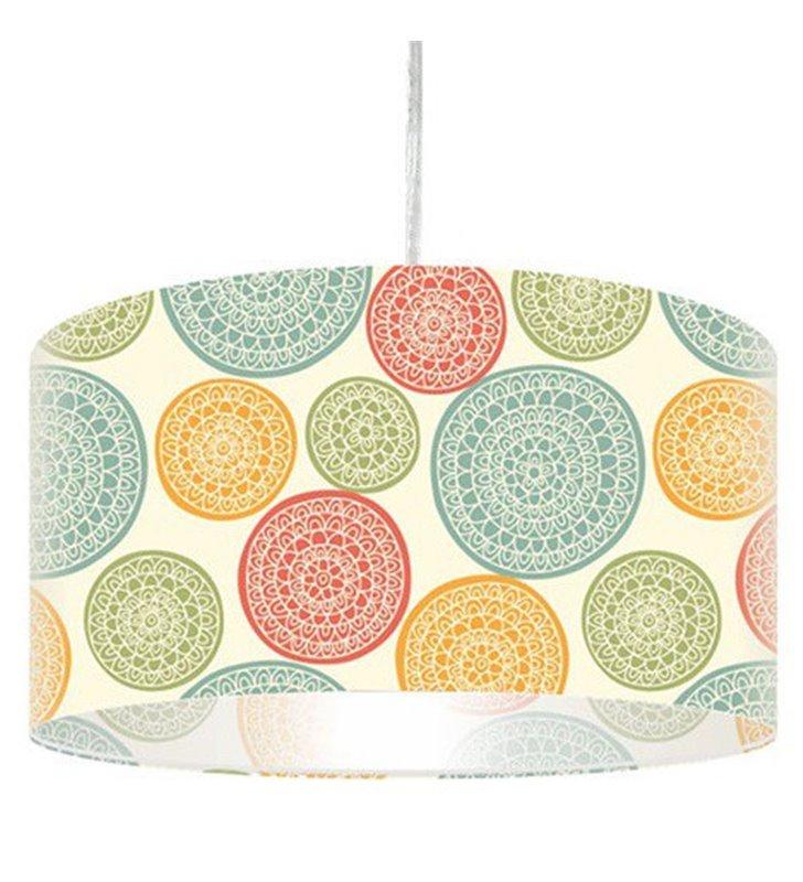 Lampa wisząca z pastelowym nadrukiem Regge