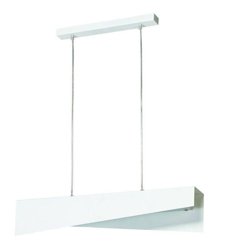 Podłużna nowoczesna biała lampa wisząca Kant nad stół do kuchni jadalni sypialni salonu - DOSTĘPNA OD RĘKI